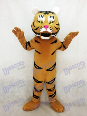 Nouveau Costume Mascotte Jaune Orange Tiger Ted