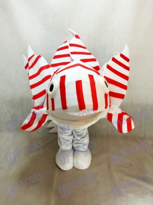 Costume de mascotte lionfish pour aquarium
