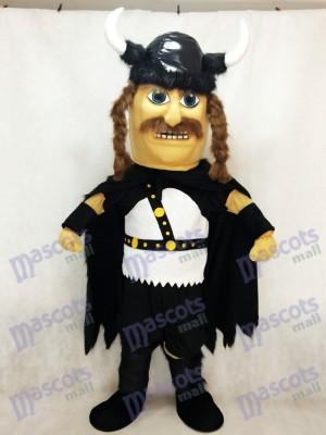 Nouveau Costume de mascotte en peluche Odin Viking avec cape noire