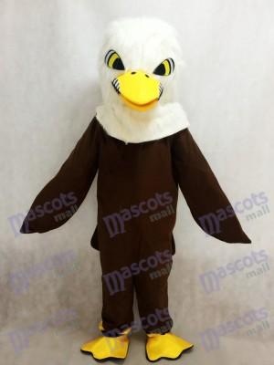 Nouveau Costume de mascotte aigle plume marron Animal