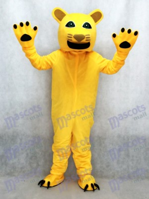 Nouveau Costume Mascotte Jaune Cougar Animal