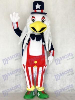 Dessin animé de costume de mascotte aigle américain