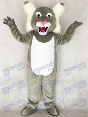 Costume de mascotte sauvage Wildcat gris mignonne Animal