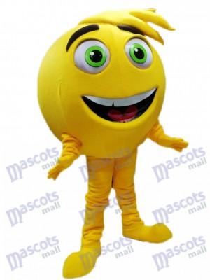 Jaune Mel Meh Le costume de mascotte Emoji