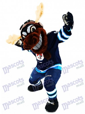 Mick E. Moose des Winnipeg Jets Manitoba Moose Mascotte Costume Animal