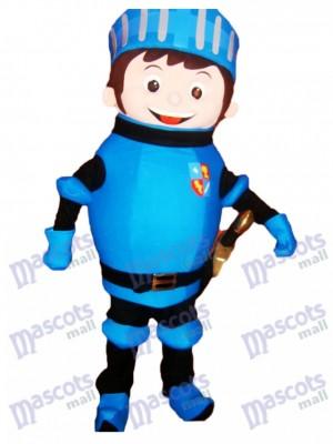 Costume de mascotte de Mike le chevalier bleu