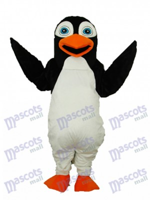 Costume adulte mascotte pingouin noir océan