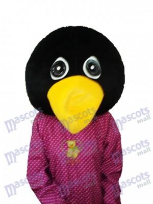 Costume de mascotte de tête de pingouin pleurant l'océan
