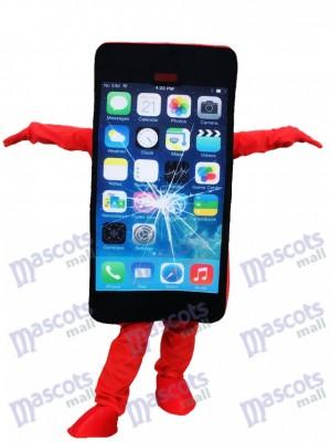 rouge Cellule Téléphone Pomme iPhone avec Un écran fissuré Mascotte Costume Pour la promotion