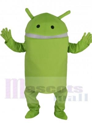 Vert clair Android Robot Costume de mascotte Dessin animé
