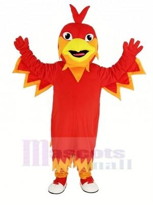 Mignonne rouge Phénix Mascotte Costume Animal