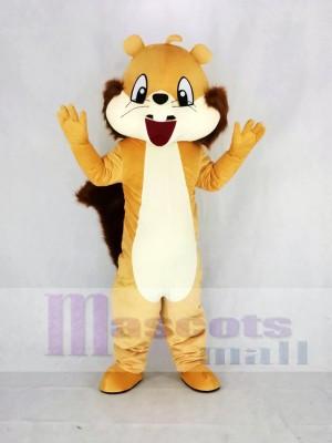 Mignonne marron Écureuil Mascotte Costume Dessin animé