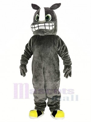gris Rhinocéros Mascotte Costume Animal
