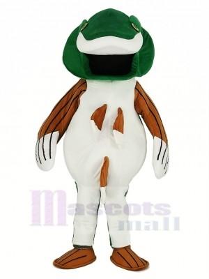 vert Basse Poisson Mascotte Costume Dessin animé