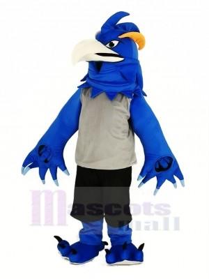 Bleu Phénix dans gris Mascotte Costume Animal