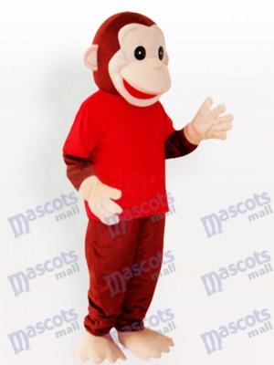 Costume de mascotte drôle d'animaux singe heureux