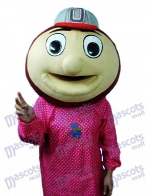 Mascotte de tête de singe de baseball Costume adulte Animal