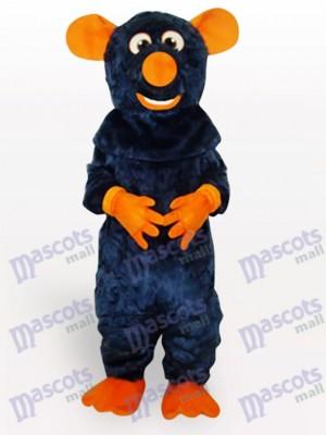 Costume de mascotte adulte grosse souris noir animal souris
