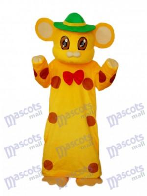 Jaune Bibliothèque Souris Souris Mascotte Costume Adulte Animal
