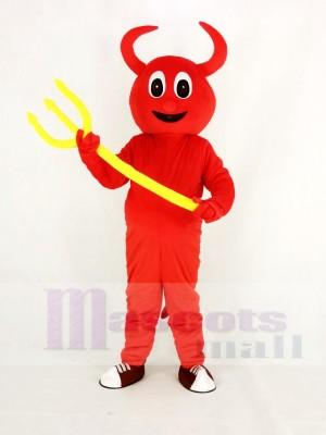 Mignonne rouge Diable Mascotte Costume Dessin animé