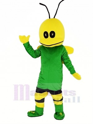 vert abeille Mascotte Costume Dessin animé