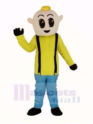 Garçon avec Jaune Chemise Mascotte Costume