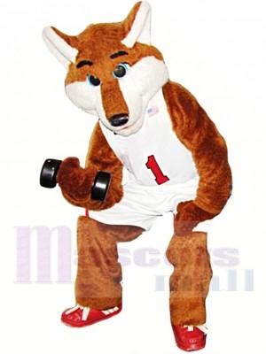 Basketball Sportif Renard Costume de mascotte