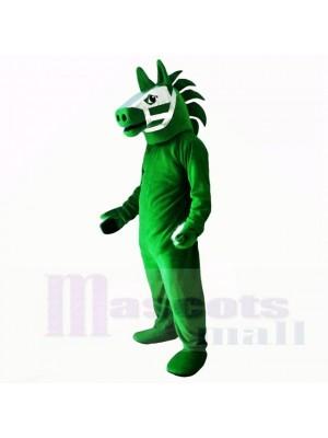 vert troyen Cheval Costumes De Mascotte Adulte