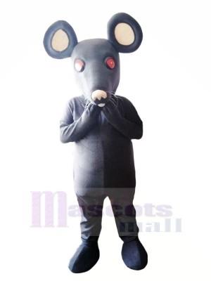 Marrant Gris Rat Mascotte Les costumes Dessin animé