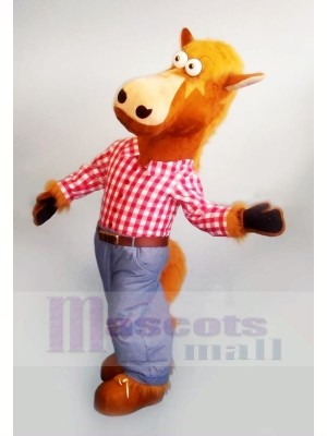 Cheval avec Rose T-shirt Mascotte Costumes Animal