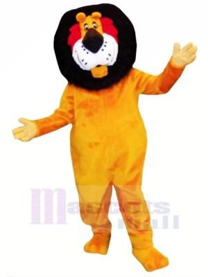 Drôle Orange Lion Mascotte Les costumes Adulte