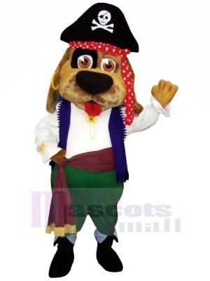 Pirate marron Chien Mascotte Les costumes Dessin animé