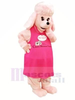 Rose Chien dans Robe Mascotte Les costumes Dessin animé