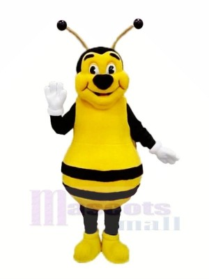 Souriant abeille Mascotte Les costumes Adulte