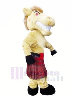Féroce Cheval avec Robe Mascotte Les costumes