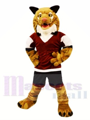 Fort marron Chat sauvage Mascotte Les costumes Animal