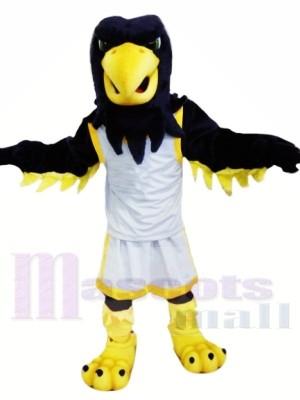 Noir Aigle avec blanc Costume Mascotte Les costumes Animal