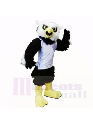École de sport hibou à la chemise blanche mascotte costumes