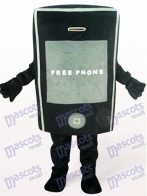 Téléphone noir pour le costume de mascotte adulte de promotion