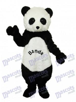 Panda géant avec des lettres Mascotte Costume adulte Animal