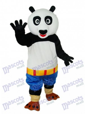 Kung Fu Panda Bleu Short Mascotte Costume Adulte Animal