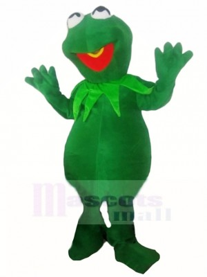 Timid Kermit la grenouille Costume de mascotte