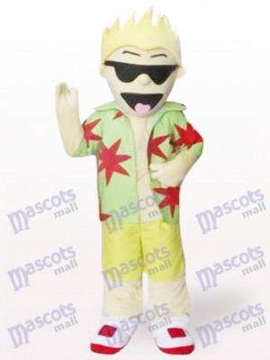 Cool costume de mascotte adulte de bande dessinée de lunettes de soleil pour garçon
