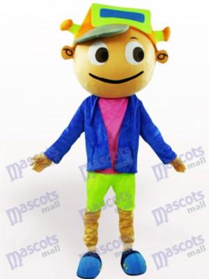 Costume de mascotte de dessin animé adulte Cap Boy