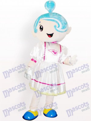 Costume de mascotte adulte Cartoon Girl de musique