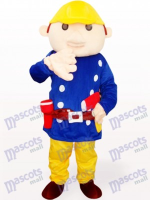 Costume de mascotte adulte bleu Baboo Engineer