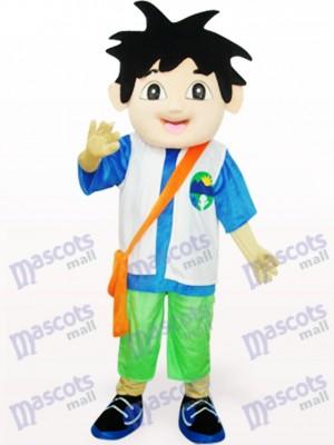 Costume de mascotte adulte Diego Delgado bleu et blanc
