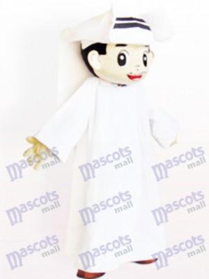 Costume de mascotte adulte de dessin animé homme arabe