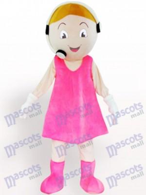 Costume de mascotte adulte de dessin animé de représentant de service à la clientèle
