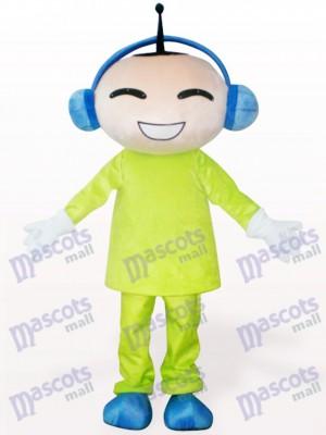 Costume de mascotte de bande dessinée de poupée d'antenne
